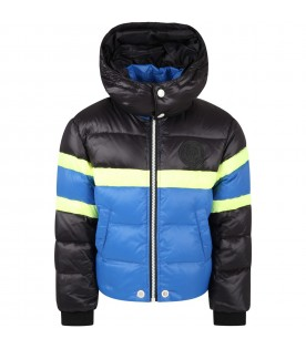 Multicolor jacket for boy with iconic patch