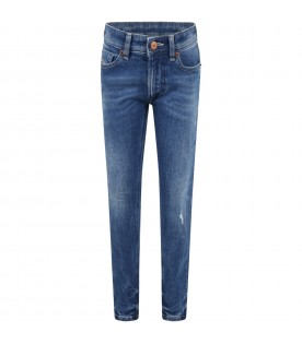 Azure jeans for boy with logo