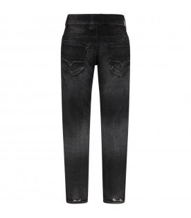 Black jeans for boy with rips