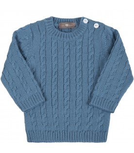 Light blue sweater for baby boy