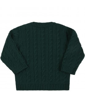 Green sweater for baby kids