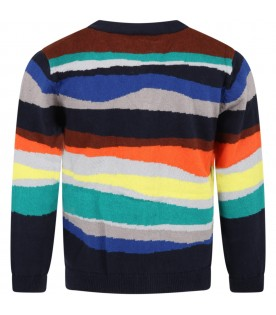 Multicolor cardigan for boy with zebra