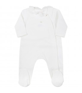 Ivory set for baby girl with logo