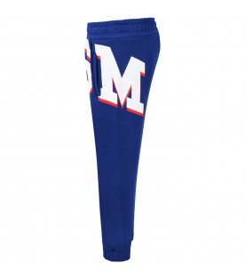 Blue sweatpant for boy with logo
