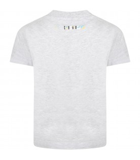 Grey t-shirt for kids with iconic ''K''