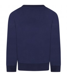 Blue sweatshirt for boy with iconic tree