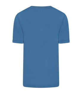 Azure t-shirt for boy with logo