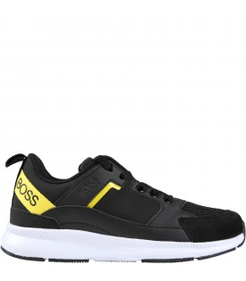 Multicolor sneakers for boy with logos