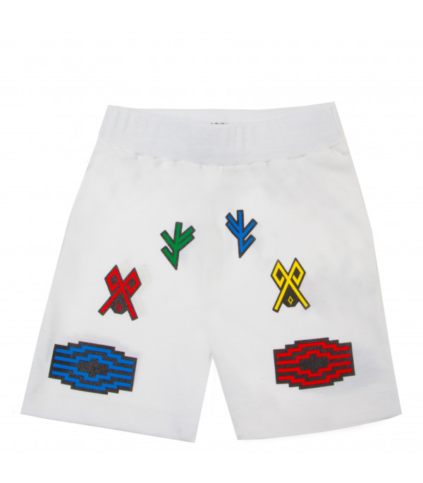 "MARCELO BURLON KIDS White ""Logo"" Shorts"