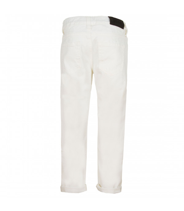 MSGM KIDS White denim jeans
