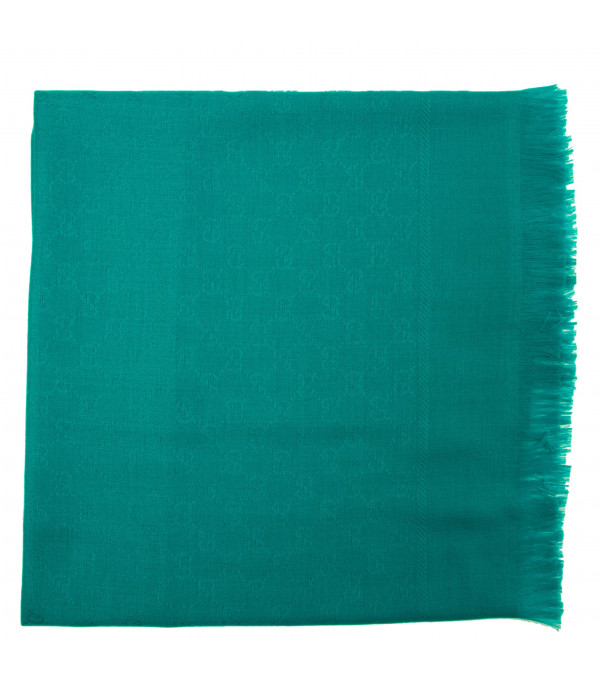 "GUCCI KIDS Turquoise ""Olina"" scarf"