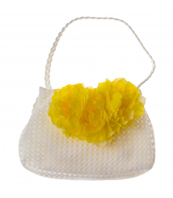 LOREDANA Bag with yellow peonies