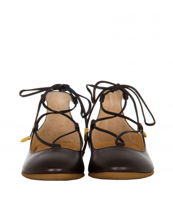 "AQUAZZURA MINI Black ""Christy mini"" ballerinas"