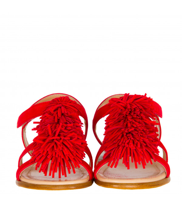 "AQUAZZURA MINI Red ""Wild Sandal Mini"""
