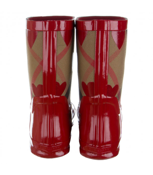 BURBERRY KIDS Rain boots with check