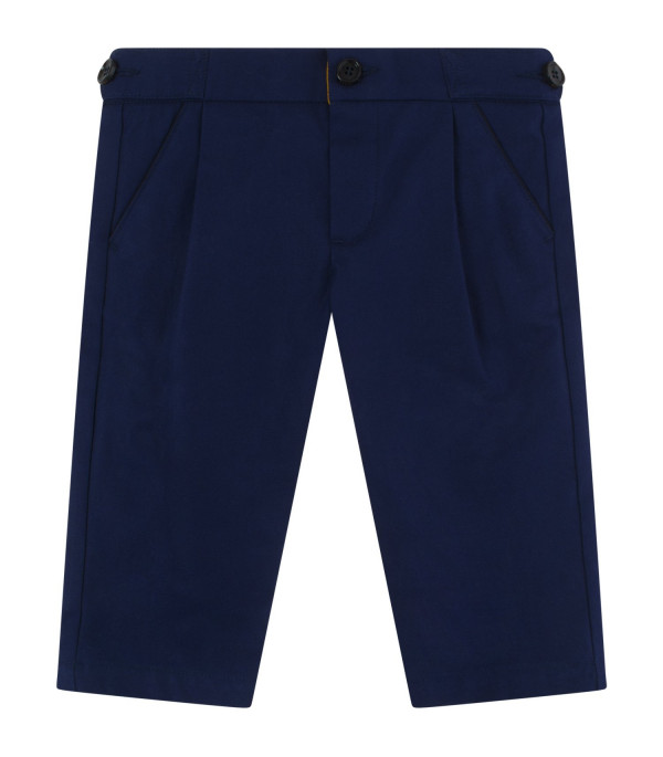 GUCCI KIDS Blue trousers with embroidered logo