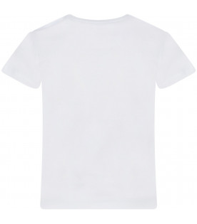 BURBERRY KIDS White t-shirt with print