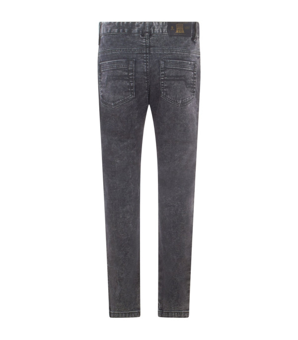 LITTLE MARC JACOBS Black denim jeans with patch