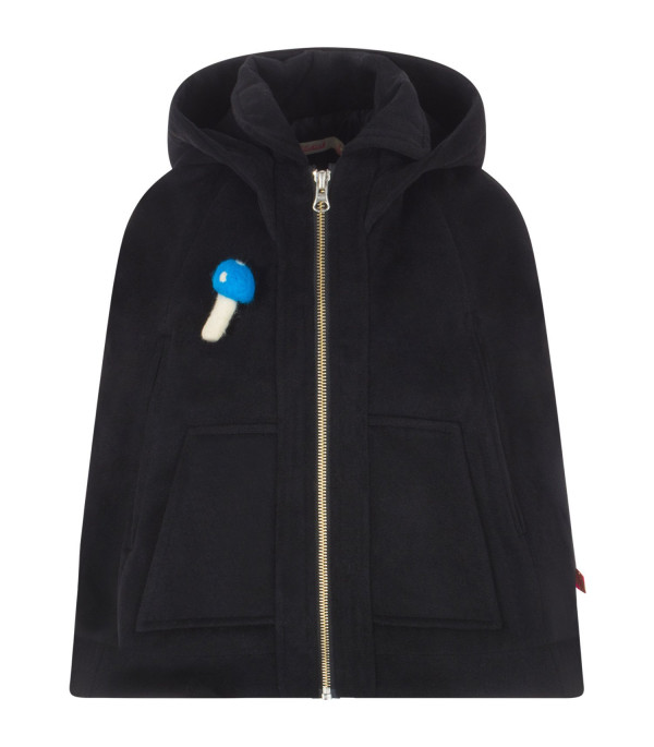 BILLIEBLUSH Black cape with hood