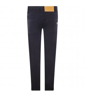 "DONDUP KIDS Black denim ""Longleg"" jeans"