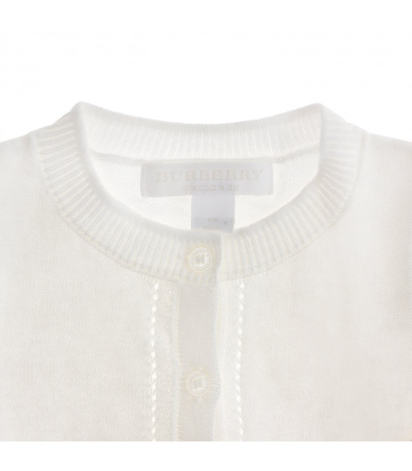 BURBERRY KIDS Round neck cardigan
