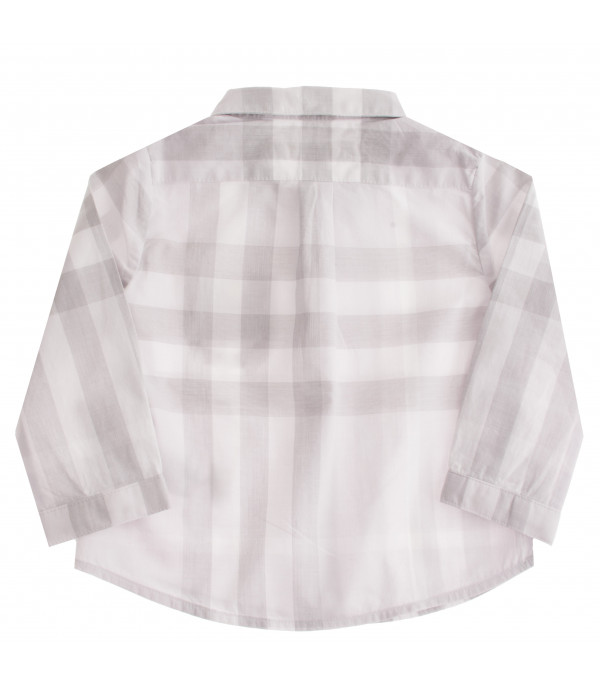 BURBERRY KIDS Check motif shirt