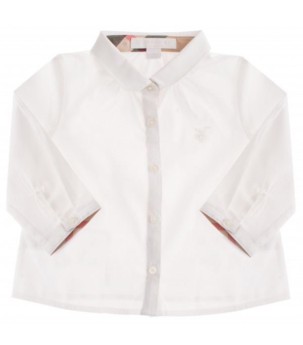 BURBERRY KIDS Check detail shirt