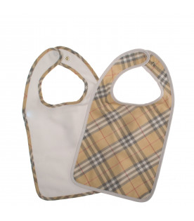 BURBERRY KIDS Checked bibs kit