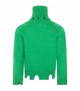 "Maglione verde ""Friends not dinner"""