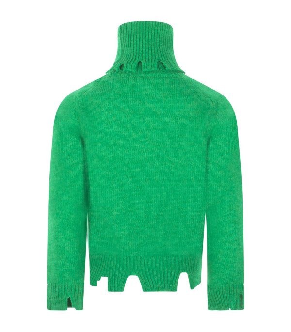 "RICCARDO COMI KIDS Green ""Friends not dinner"" sweater"