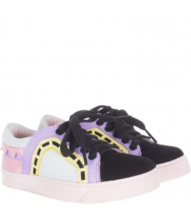 "SOPHIA WEBSTER MINI Colorful ""Riko low top"" sneaker"