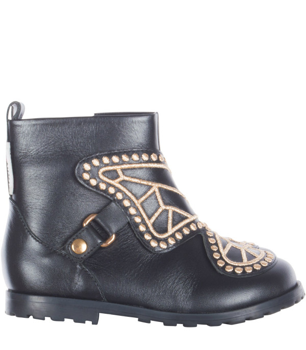 "SOPHIA WEBSTER MINI Black ""Karina"" biker boots"