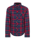 Zadig & Voltaire Kids Blue and Red check shirt