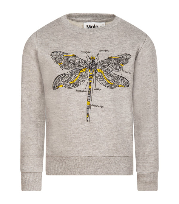 "MOLO Grey melange ""Maya"" girl sweatshirt"