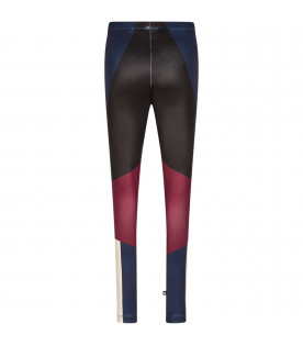 Leggings bambina color block
