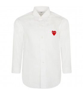 White shirt for kids with iconic heart