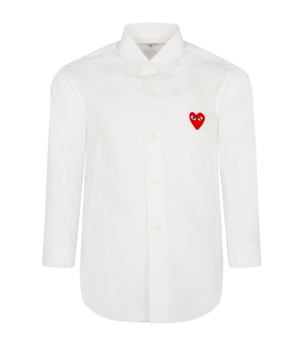 COMME DES GARÇONS PLAY KIDS White shirt with heart
