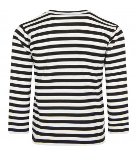 White and black striped t-shirt with heart