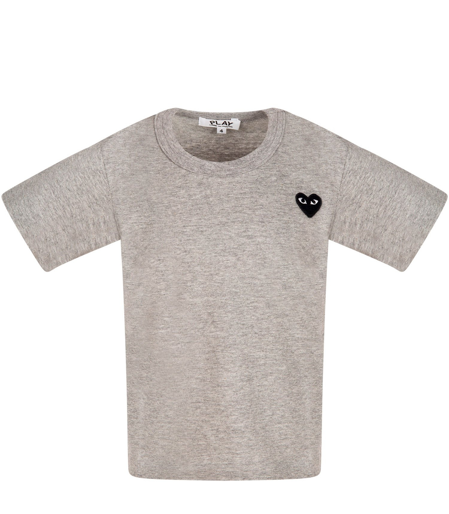 Comme Des Garçons Play Kids Melanged grey t-shirt with heart