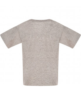 Melanged grey t-shirt with heart