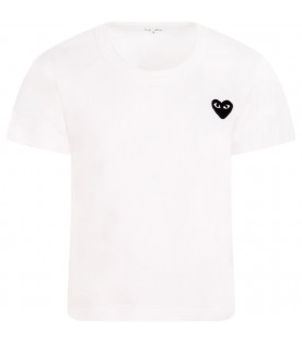 T-shirt bianca con cuore