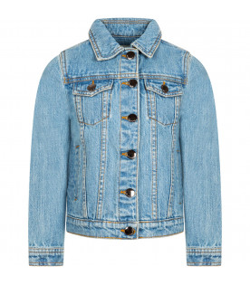 "Light blue denim girl ""Bloom"" jacket"