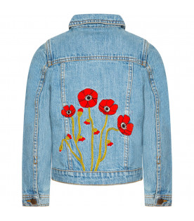 "Giacca denim bambina ""Bloom"""
