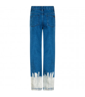 "Blue denim boy  ""Bleach"" jeans"