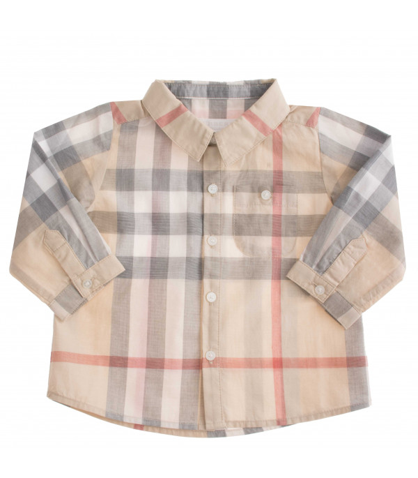 BURBERRY KIDS Camicia con motivo check