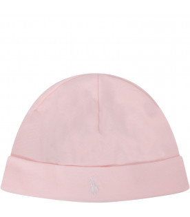 Pink hat with logo