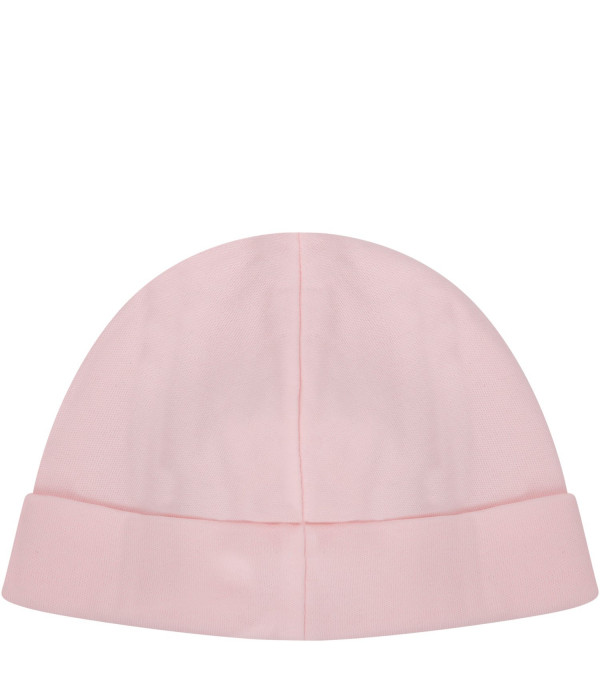 RALPH LAUREN KIDS Pink hat with logo