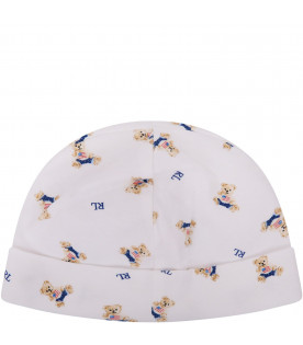 White hat for babyboy with bears