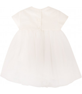 LITTLE BEAR Ivory dress with flower
