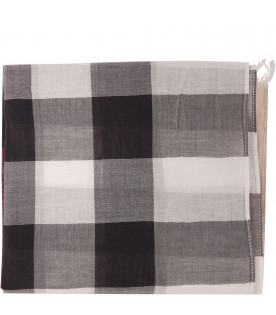 BURBERRY KIDS Sciarpa con check